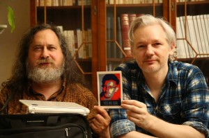 Richard Stallman and Julian Assange
