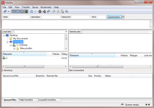 FileZilla running on Windows