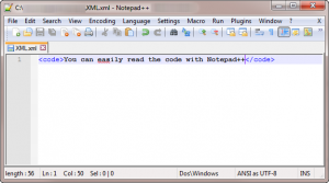 Notepad++ Windows FOSS text editor.