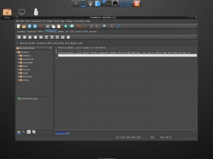 Bodhi Linux Bluefish Text Editor