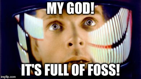 It's full of FOSS