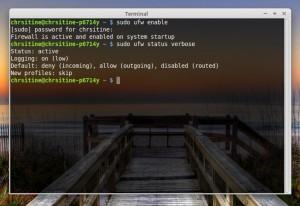 Linux Mint Rebecca firewall