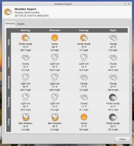 Linux Mint Rebecca Xfce Weather Update
