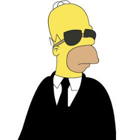 Homer Simpson spy