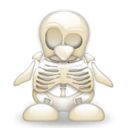 Tux skeleton