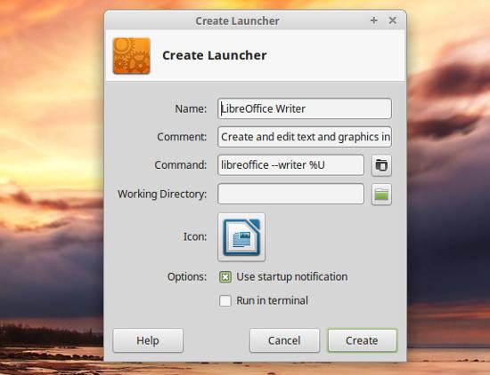 Linux Mint 17.2 Xfce Launchpad