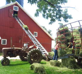 Loading hay