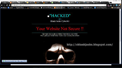 hacked site