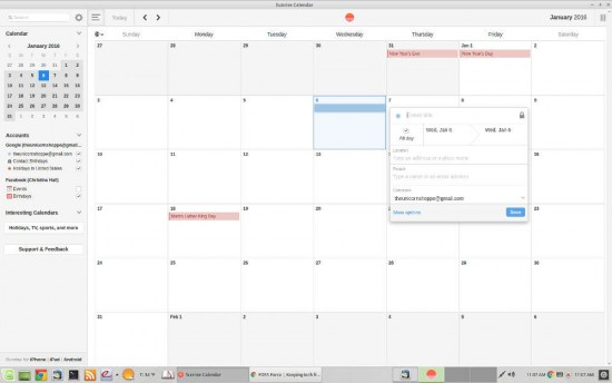 Sunrise Calendar Chrome plugin