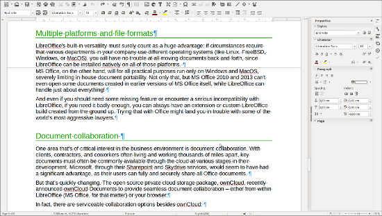 LibreOffice Writer 5.1.1