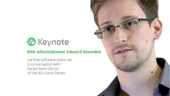 Edward Snowden LibrePlanet 2016