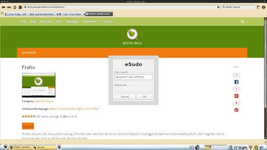 Bodhi Linux Appcenter eSudo