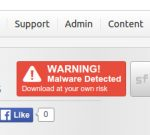 SourceForge warning badge