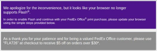 FedEx Office Flash screenshot