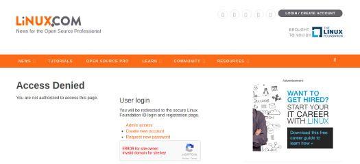 Linux Foundation Linux.com screenshot