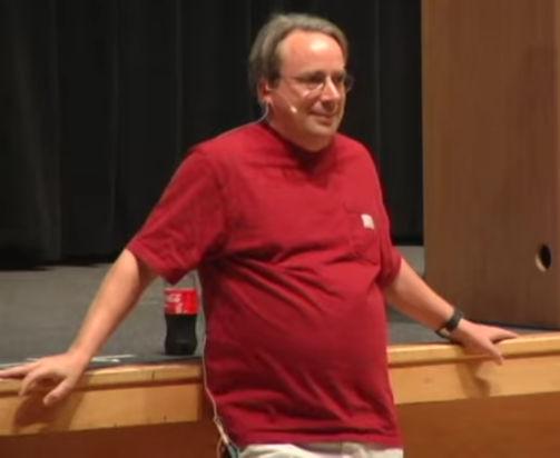 Linux Torvalds Debian conference
