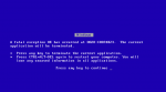 microsoft windows blue screen of death bsod