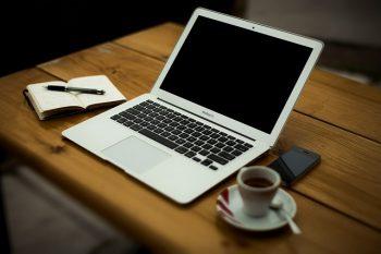 Laptop running LibreOffice
