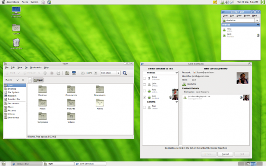 screenshot of gnome 2.32