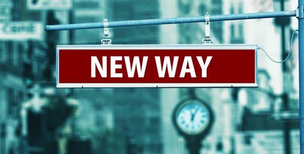 New Way street sign