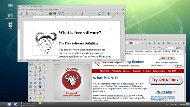 Screenshot from GNU of Trisquel Linux distro