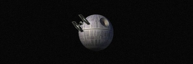 starship approching death star