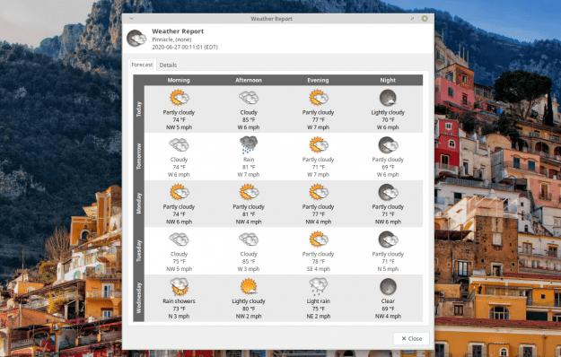 Xfce applet screenshot