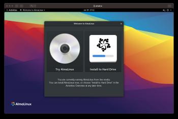 AlmaLinux live install
